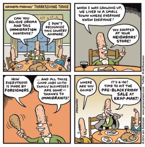 Grandpa Perkins' Thanksgiving Tirade
