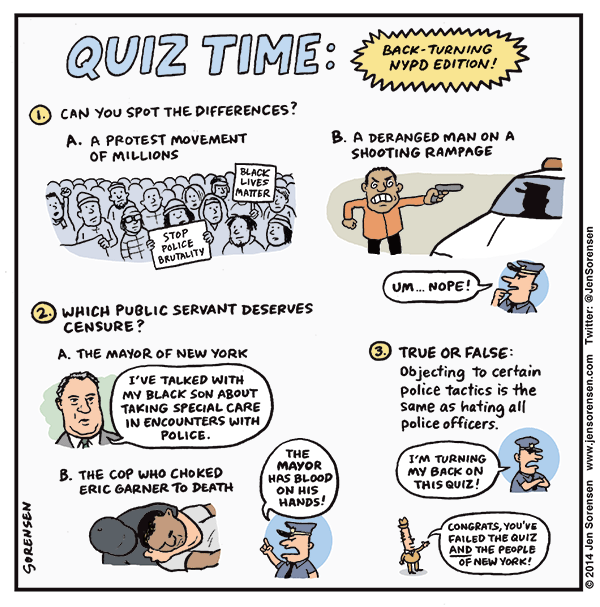 Quiz Time: Back-turning NYPD edition