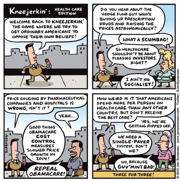 Kneejerkin: Health Care Edition