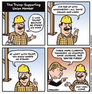 The Trump-supporting union member