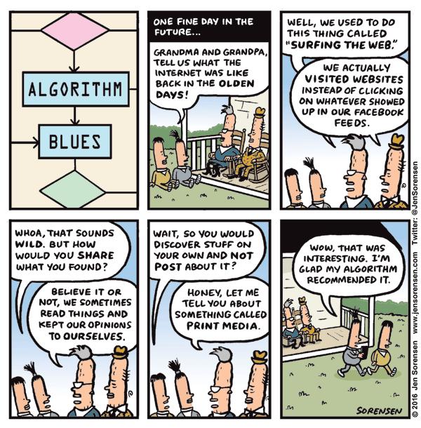 Cartoon: Algorithm Blues