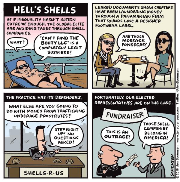 Cartoon: Hell's shells