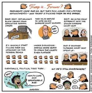 Cartoon about Trump judicial nominees