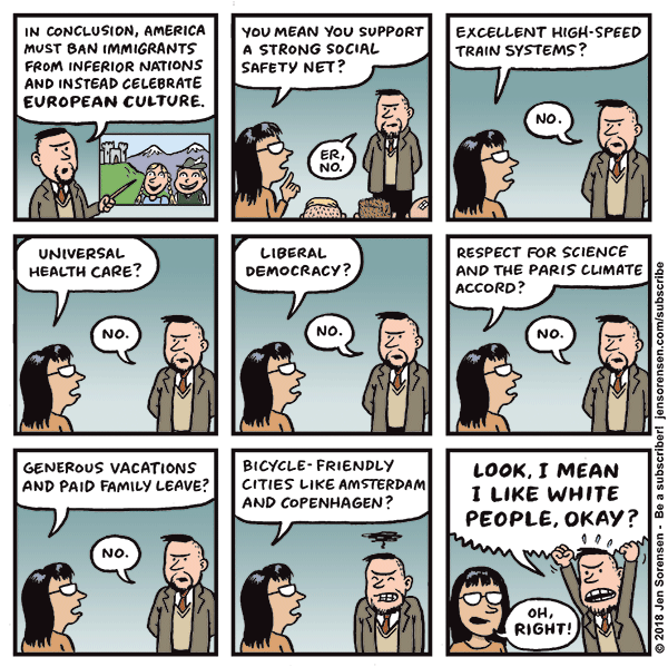 Cartoon: Fun with Ethno-nationalist Dog Whistles