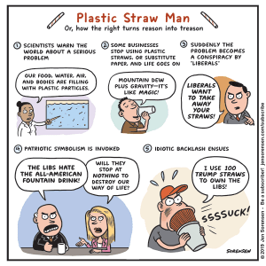 Plastic Straw Man