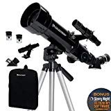 Celestron - 70mm Travel Scope – Portable Refractor Telescope – Fully Coated Glass Optics - Ideal Telescope for Beginners - BONUS Astronomy Software Package  by Celestron