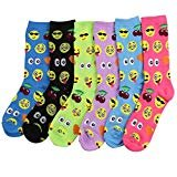Women's Fun Colorful Crew Sock 6 Packs