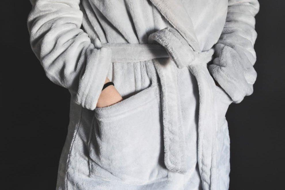 Cozy plush warm robe