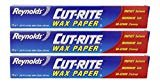Cut-Rite Wax Paper by Reynolds 75 Sq.Ft - Pack of 3  by Reynolds