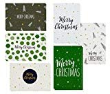 48 Pack of Christmas Winter Holiday Family Greeting Cards Green and Cream Merry Christmas Festive Designs Boxed with 48 Count White Envelopes Included 4.5 x 6.25 Inches  by Sustainable Greetings