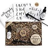 Calligraphy Starter Kit - Beginner Calligraphy Lettering Set - Beginning Modern Calligraphy DIY Kit - Oblique Pen Hand Lettering with Nib  byWildflower Art Studio