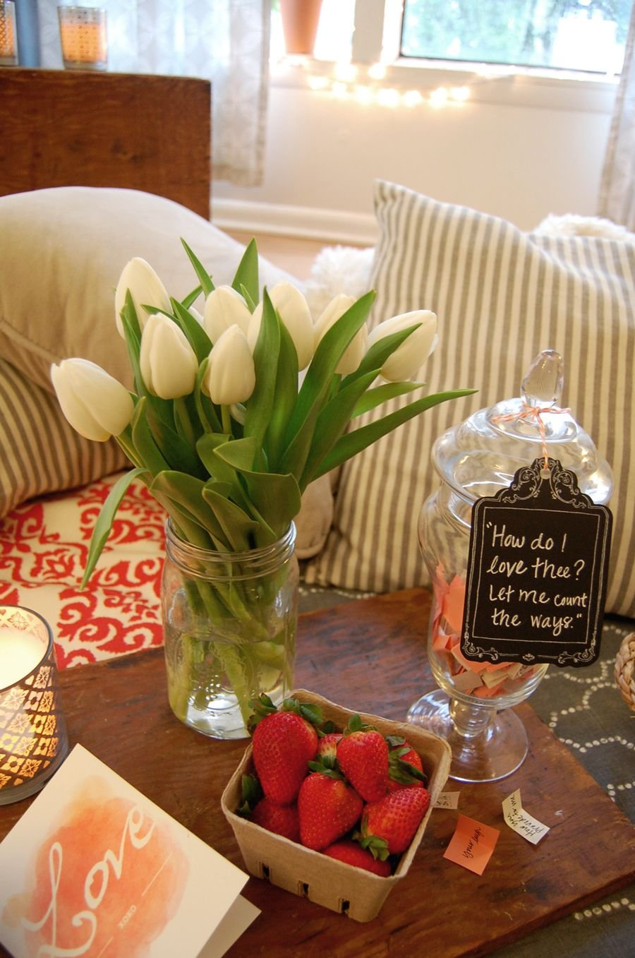 Turn your living room into an indoor picnic