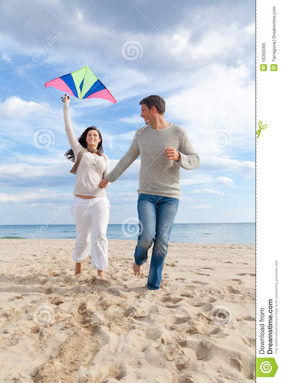 Go fly a kite.  The beach is perfect gor a picnic too