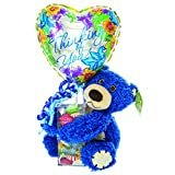Thinking Of You Balloon Gift – Teddy Bear, Balloon, Assorted Candy in Acrylic Case | Cheer Up a Friend or Loved One with this Gift  by Kelliloons