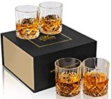 KANARS Old Fashioned Whiskey Glasses with Luxury Box - 10 Oz Rocks Barware For Scotch, Bourbon, Liquor and Cocktail Drinks - Set of 4  by KANARS