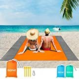 ISOPHO  ISOPHO Beach Blanket, 79''×83'' Beach Blanket Waterproof Sandproof for 3-7 Adults, Oversized Lightweight Beach Mat, Portable Picnic Blankets, Sand Proof Mat for Travel, Camping, Hiking, Packable w/Bag