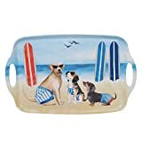 "Certified International Hot Dogs Rectangular Tray withHandles 19"" x 12"" Servware, Accessories,Hostess Serving, Multicolor  Brand: Certified International"