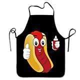 Novelty Funny Hotdog Ketchup Unisex Kitchen Chef Apron - Chef Apron For Cooking,Baking,Crafting,Gardening And BBQ  Brand: WanHSP