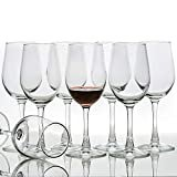 [Set of 8, 12 Ounce] All-Purpose Wine Glasses, Lead Free, Classic  by C CREST