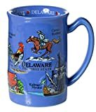 Delaware The First State Blue Souvenir Raised Coffee Mug  by Artisan Owl