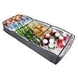 Duraviva Insulated Food & Drink Portable Foldable Party Cooler and Serving Tray for Beverages, Buffet, Picnic, BBQ, Salad Seafood Bar  by Duraviva