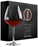 Red Wine Glasses - Lead Free Titanium Crystal Glass, 22 oz. Large Bowl, Long Stemmed Glassware - For Wine Tasting, Birthday, Anniversary or Wedding Gifts – Set of 3  Visit the RÖD Wine Store