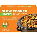 Heavy-duty Crock Pot Liners BPA-free Made in the USA, 8 Count, Bags Fit 3-8 Quart Oval and Round Slow Cooker  byWestern Orange