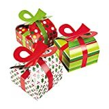 3D Christmas Gift Boxes With Bow - Party Favor & Goody Bags & Paper Goody Bags & Boxes; 12 Packby Fun Express