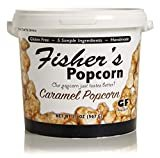 Fisher's Popcorn Caramel Popcorn, Gluten Free, 5 Simple Ingredients, Handmade, No Preservatives, No High Fructose Corn Syrup, Zero Trans Fat, 20oz Tub  by Fisher's Popcorn