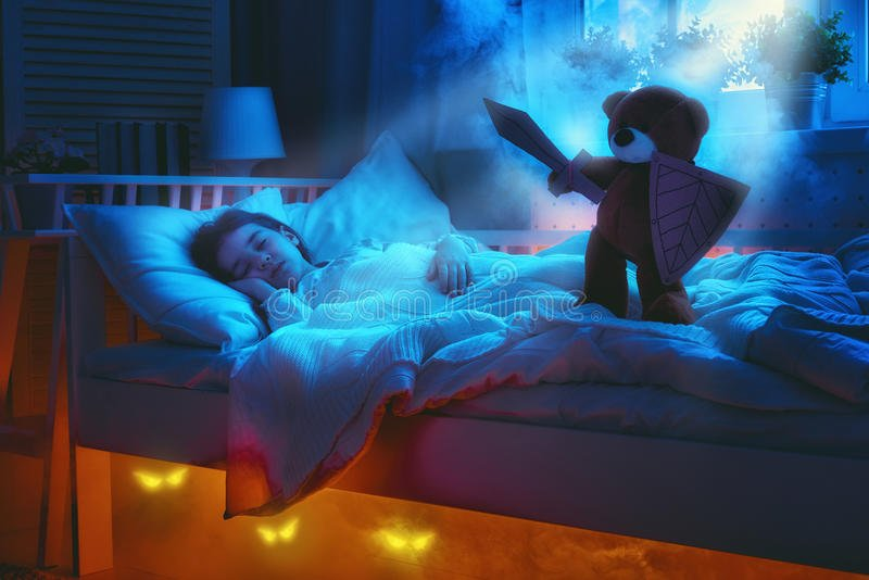 It is believed Teddy Bears defend from monsters while we sleep.