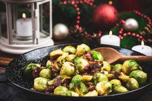 Butter Bacon Brussel Sprouts