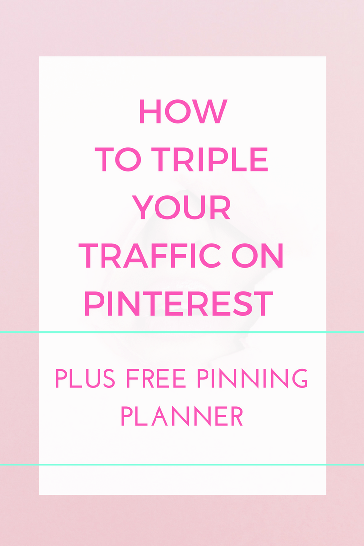All the steps you need to be able to triple your traffic on Pinterest, grow your email list, bring in new customers and readers to grow your business and build your blog.