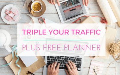 How to Triple your Traffic with Pinterest (plus Free Pinning Planner)