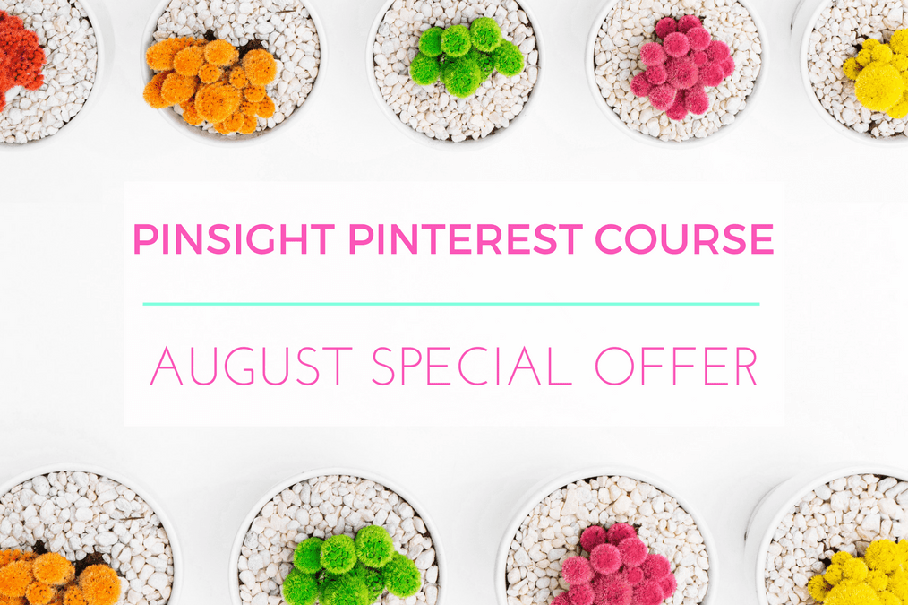 PINSIGHT Pinterest Course: August Special Offer