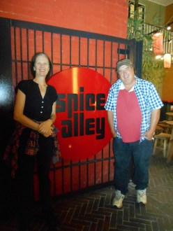 Jen and cousin Bruce at Spice Alley