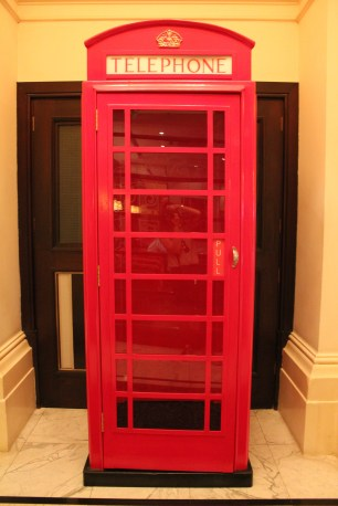 It wouldn't be London without a telephone booth in the hallway.