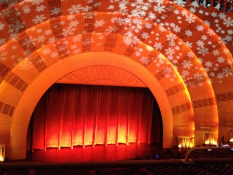 Radio City Music Hall view from the Mezzanine level