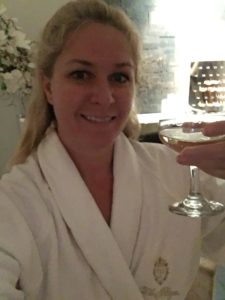 Guerlain Spa Before Facial relaxing with Champagne