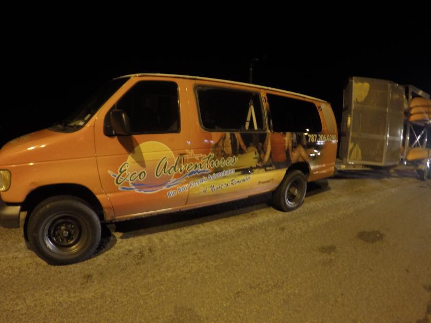 Bio Bay Kayak Tour Company Van with Trailer