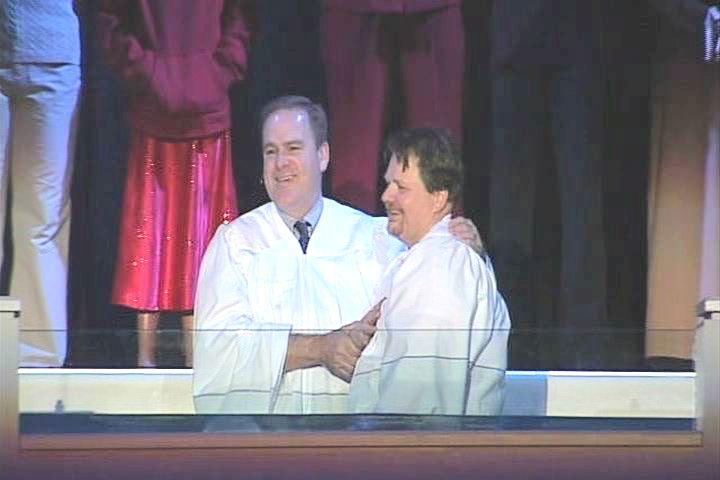 Alton getting Baptized at FBCE