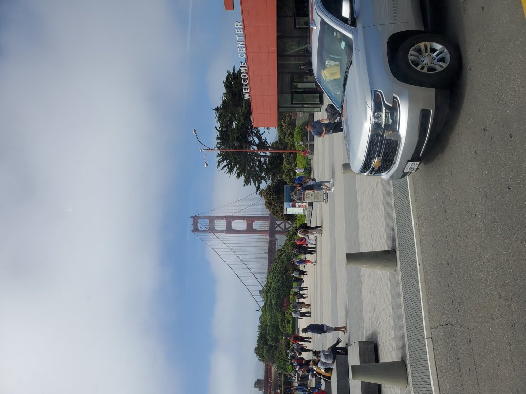 View from the PresidioGo of the Golden Gate Bridge