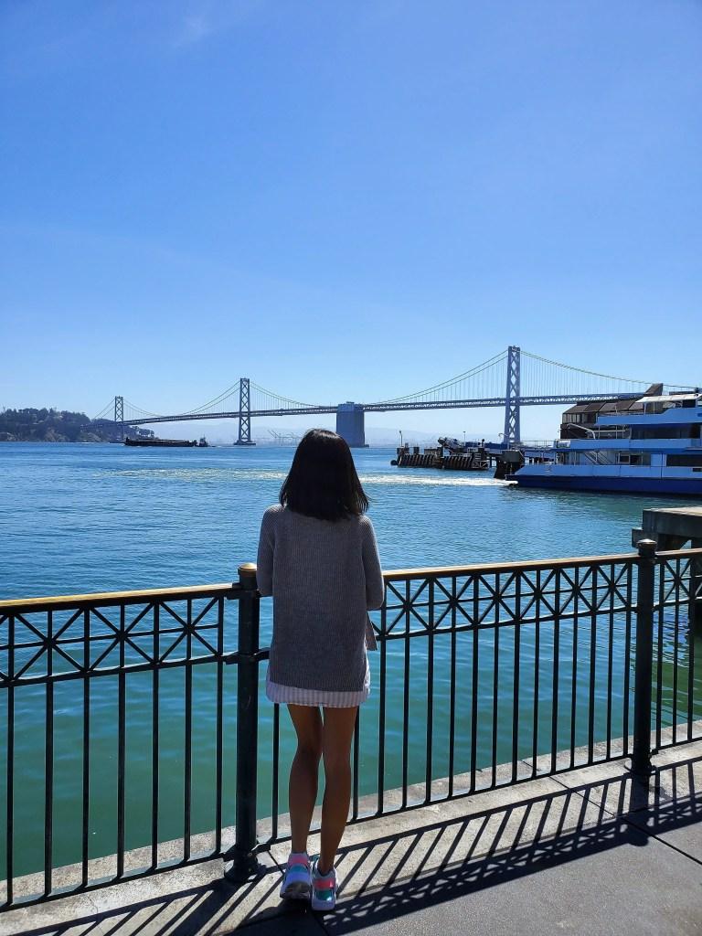 View of the Oakland-San Francisco bridge