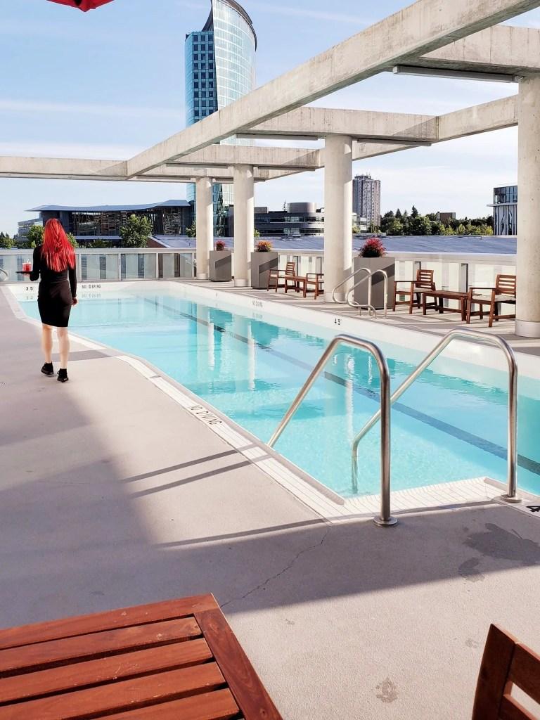 Outdoor pool at Civic Hotel Surrey