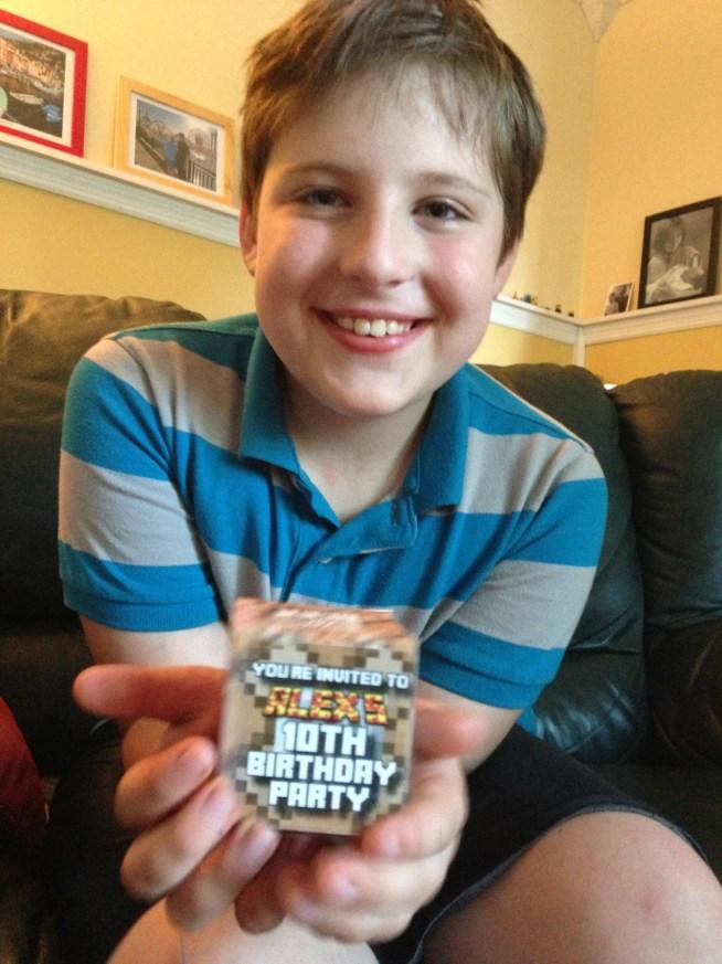 Invitación Minecraft cubo