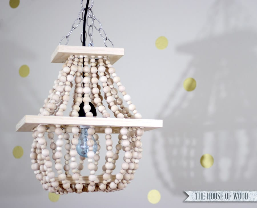 How To Make A DIY Beaded Statement Light Fixture