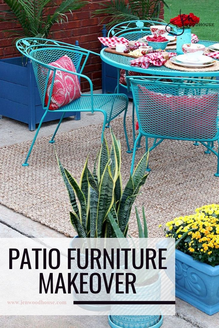 paint patio furniture with chalk paint