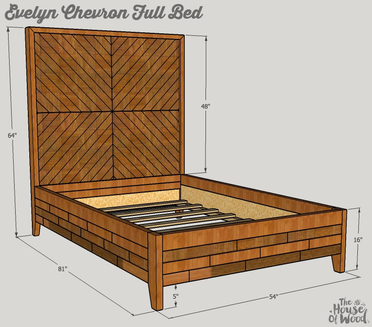 DIY West Elm Chevron Bed Free Plans