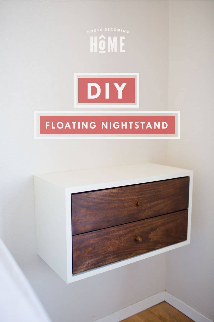 How To Build A Diy Floating Nightstand Full Tutorial And