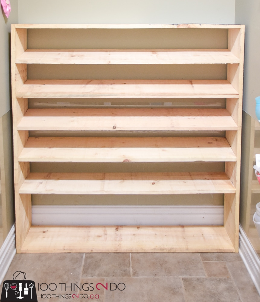 how to make a super sized shoe rack on