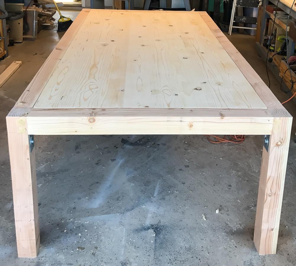 diy chunky modern dining table